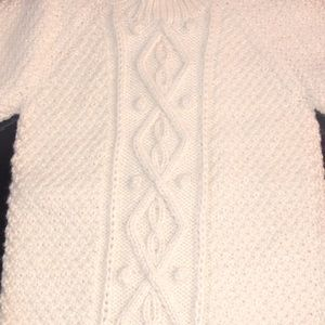 Cable knit pull-over with title neck (5years +